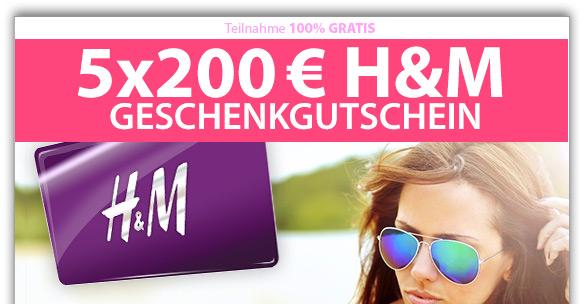 Gewinne einen von fünf H&M Gutscheinen im Wert von 200€!