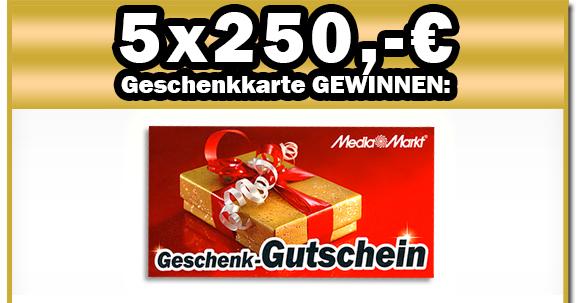 Media Markt-Gutschein im Wert von 250,- Euro gewinnen!